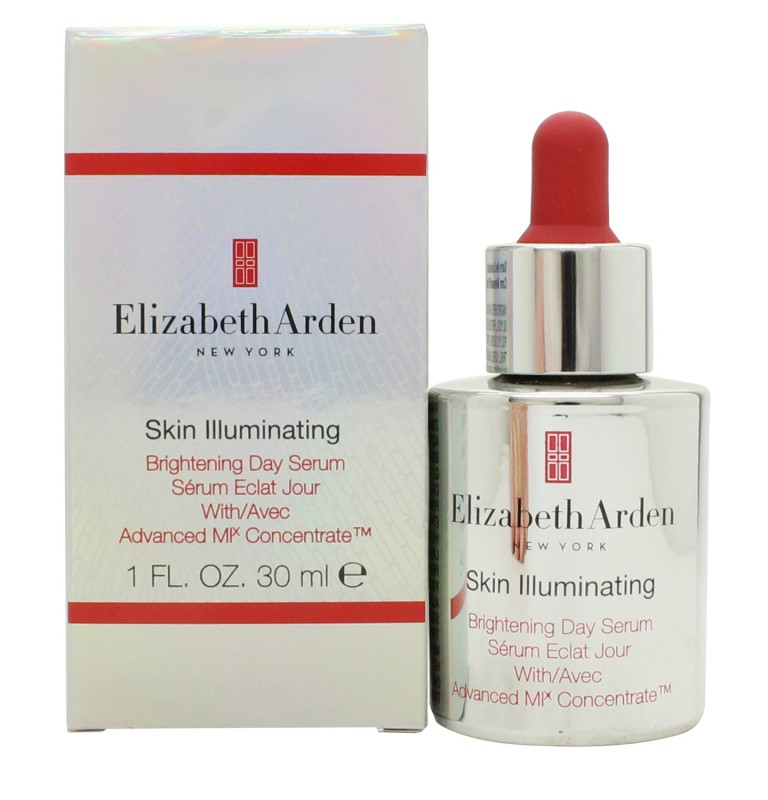 Elizabeth Arden Skin Illuminating Advanced Brightening Day Serum 1 FL. OZ. Anti-Aging gel face mask with grapefruit collagen and mask applicator